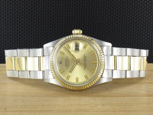"Rolex Datejust Vintage Steel Gold 36mm ""Wide Boy"" 1601"